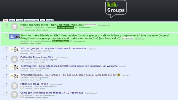 Kik dating groups