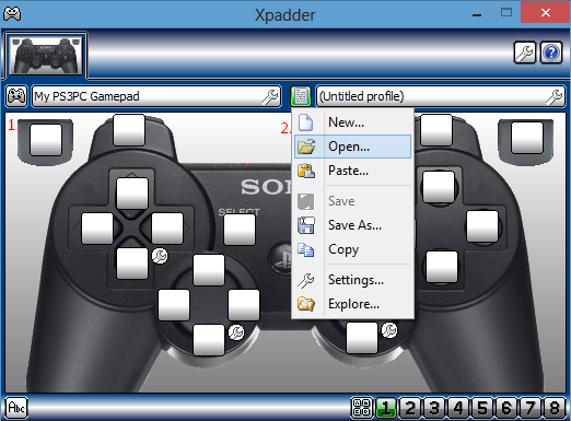 Xpadder is a simple but functional emulator that's very easy to set up